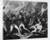 The Battle of Trafalgar, 1805: Captain Harvey of the 'Temeraire' clearing the deck of French and Spaniards by Gillbank