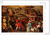 The Siege of Malta:Turkish bombardment of Birgu, 6 July 1565 by Matteo Perez d'Aleccio