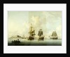 Attack on Goree, 29 December 1758: Ships at Anchor after the Action by Dominic Serres the Elder