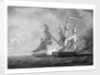 HMS 'Scourge' capturing the 'Sansculotte', 13 March 1793 by Thomas Yates