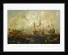 Action between English and Spanish ships by Andries van Eertvelt