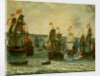 Action between ships in the First Dutch War, 1652-1654 by Abraham Willaerts