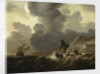A Dutch ship wrecked on a rocky coast by Ludolf Bakhuizen