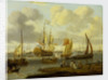 Shipping off Amsterdam by Abraham Storck