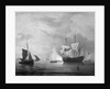 An English ship becalmed by Peter Monamy