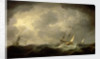 Royal yachts in a storm by Charles Brooking