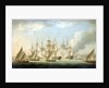 Attack on HMS 'Aurora' by pirates, 1812, end of the action by Thomas Buttersworth