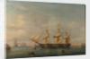 A frigate at Malta by A. de Simone