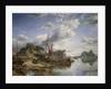 Gabbarts and iron-ship yard, Dumbarton by Samuel Bough