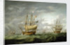 Loss of HMS 'Ramillies', September 1782: before the storm breaks by Robert Dodd
