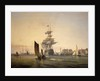 'Britannia' entering Portsmouth by George Chambers the Elder