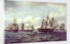 The ship 'Castor' and other vessels in a choppy sea by Thomas Luny