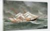 The barque 'Camphill' in a rough sea by Joseph Fannen
