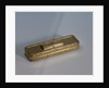 18 carat gold toothpick case with a close-fitting hinged lid by John Allen