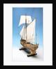 Skeleton model, royal yacht, port stern quarter by unknown
