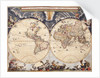 Copy of World map from the Blaeu Atlas, 17th century by John Blaeu