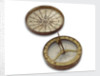 Compass dial, with lid by unknown