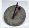 Horizontal pedestal dial by Richard Glynne