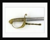 Solid half-basket hilt of sword by unknown