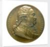 Medal commemorating Admiral de Suffren (1726-1788); obverse by J.J. Barre