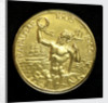 Medal commemorating the 150th anniversary of the Battle of Trafalgar; reverse by Paul Vincze
