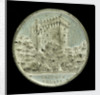 Medal commemorating the visit of the Atlantic fleet to Queenstown, 1910; obverse by J.F. O'Crowley