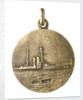 Medalet commemorating HMS 'Hibernia'; reverse by V.B.