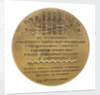 Medal commemorating General Francesco Amilcare Dupanloup from the inhabitants of Savona; reverse by unknown