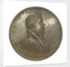 Medal commemorating Commander Jesse Elliott and the battle of Lake Erie, 1813; obverse by Moritz Furst