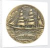 Commemorative medal depicting the three masted barque Sigyn - Abo Maritime Museum, Finland; obverse by O. Eriksson