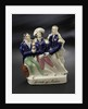 Staffordshire figure group representing the death of Nelson by unknown