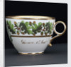 Teacup, part of a tea service that belonged to Vice-Admiral Horatio Nelson (1758-1805). by unknown