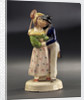 Earthenware figure group: a sailor, newly ashore, embraces his comely lass by unknown
