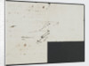 Nelson's notes for battle plan of Trafalgar, verso by Horatio Nelson