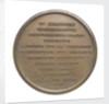 Commemorative medal depicting Duke of Wellington (1769-1852), Chancellor of Oxford University 1834; reverse by T. Webb