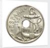 50 centimos coin; obverse by unknown