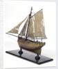 Full hull model, cutter type yacht, port stern quarter by unknown