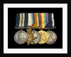 Medals awarded to Able Seaman Hubert Samuel Bevis DSM (obverse, l to r, MED1303-1307) by B. Mackennal