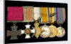 Medals awarded to Rear Admiral Dobson VC DSO (obverse, l to r, MED2102-2107) by Hancocks & Co