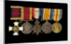 Medals awarded to Cdr John Wilfred Scott DSO RN (obverse, l to r, MED1333-1337) by W. Wyon