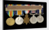 Medals awarded to Arthur Robert Blore (reverse, right to left, MED1860-1864) by B. Mackennal