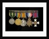 Medals awarded to Rear Admiral Harold Hugh Huxham DSO (reverse, r to l, MED1634-1638) by W. Wyon