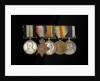 Medals awarded to Petty Officer Cecil Ernest Edgar Miles DSM (obverse, l to r, MED1393-1397) by B. Mackennal