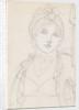 A head-and-shoulders portrait of Emma Hamilton by Thomas Baxter