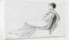 A young woman reclining, possibly one of the Connors (Emma Hamilton's cousins) (recto) by Thomas Baxter