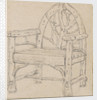 A study of a garden seat or chair by Thomas Baxter