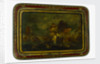 Lacquered papier-maché tray depicting the Battle of Trafalgar, 1805 by unknown