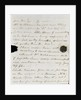 Letter from Lady Nelson to Alexander Davison, page three by Lady Frances Nelson