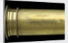 Adams's New Patent Portable Telescope - draw tube inscription by Adams