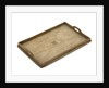 Oak tray carved with the badge of the Royal Naval Brigades by Royal Naval Brigade personnel